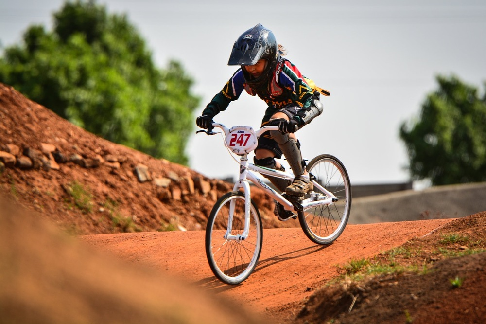 Kita Uys was in sublime form as she claimed the national title in the 9-12 Years Girls crown at the South African National BMX Championships at Alrode BMX Club, Alberton © Darren Goddard