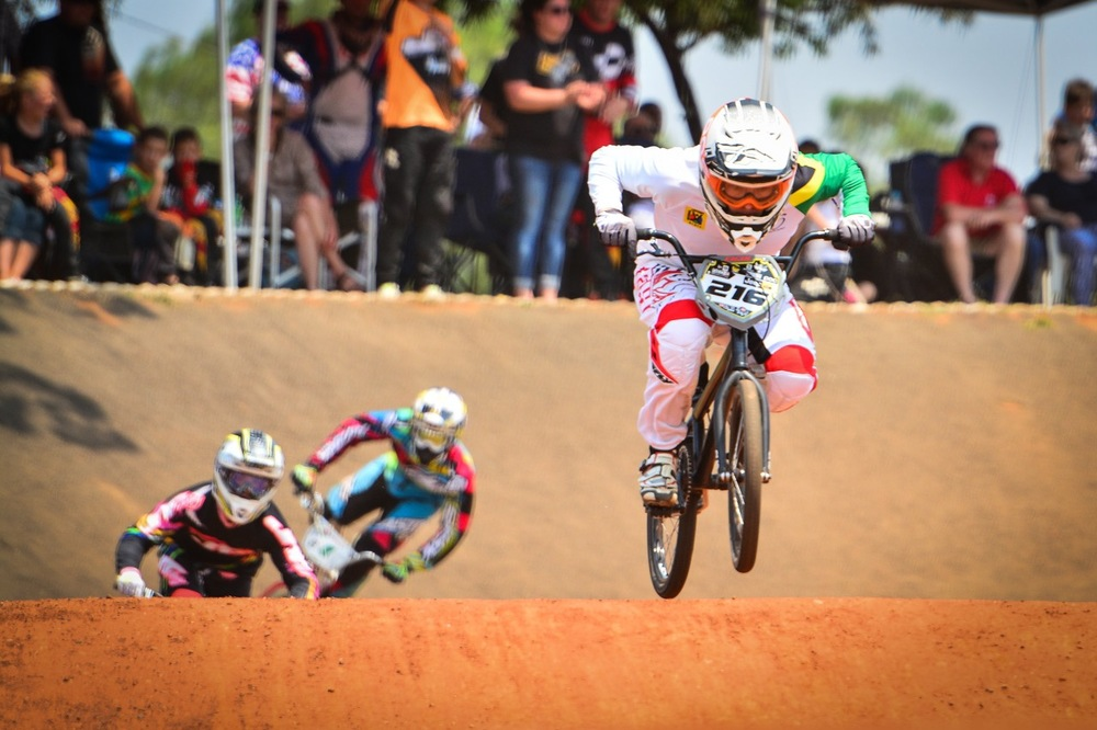 Jeep Team's Kyle Dodd claimed his third consecutive elite men's national title when he overcame the rest of the field at the South African National BMX Championships at Alrode BMX Club, Alberton © Darren Goddard