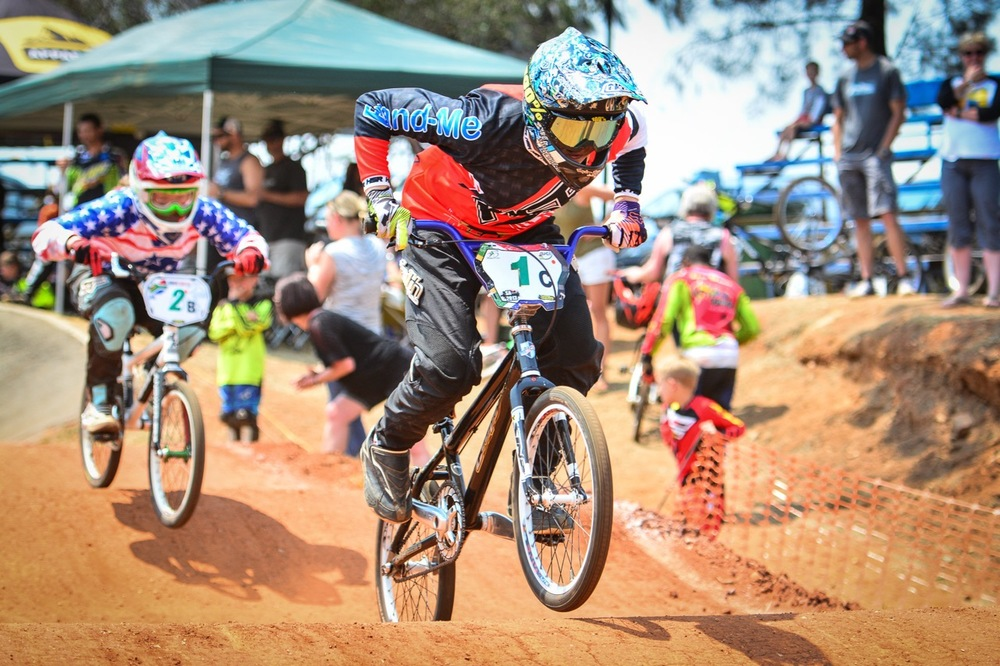 Lauren Coetzee was in a league of her own when she powered to victory in the 15 Years & Older Girls tussle at the South African National BMX Championships at Alrode BMX Club, Alberton © Darren Goddard