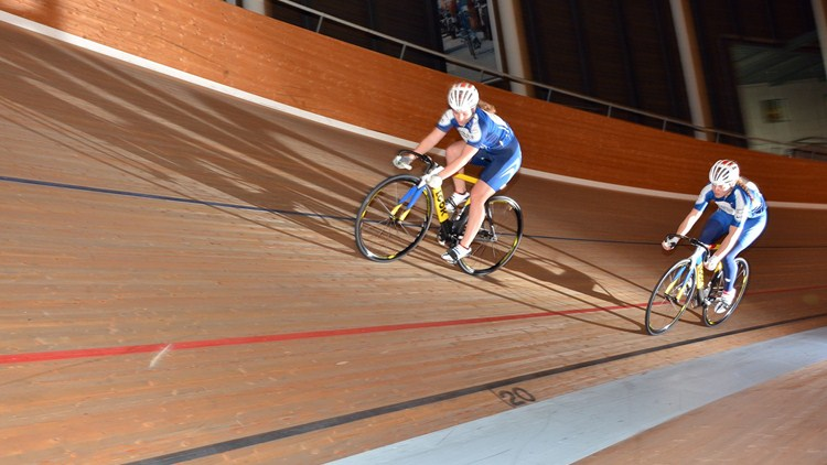South African Odette Van Deventer (left) and Bernette Beyers have been invited and taking part in a three-month track cycling training camp at the UCI World Cycling Centre in Aigle, Switzerland from September to December 2015. Photo: uci.ch