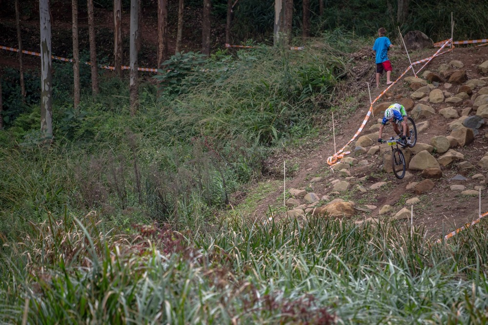 The top attraction at the event for Elite cross-country specialists in the Olympic year is the UCI HC-rated XCO race, on the world-class mountain biking course at Pietermaritzburg MTB Festival, taking place at Cascades MTB Park from Saturday 30 April to Monday 2 May 2016. Photo: Craig Dutton / pics2go.co.z  a