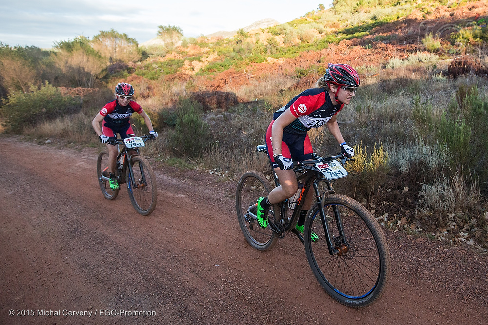 Novus OMX Pro Team rider, Mariske Strauss (front) is ready and focused to take on 2016, and looks forward to the first leg of the Stihl 2016 SA MTB Cup Series at Mankele MTB Park, Mbombela, on Saturday 30 February.  Photo: Michal Cerveny / EGO-Promotion