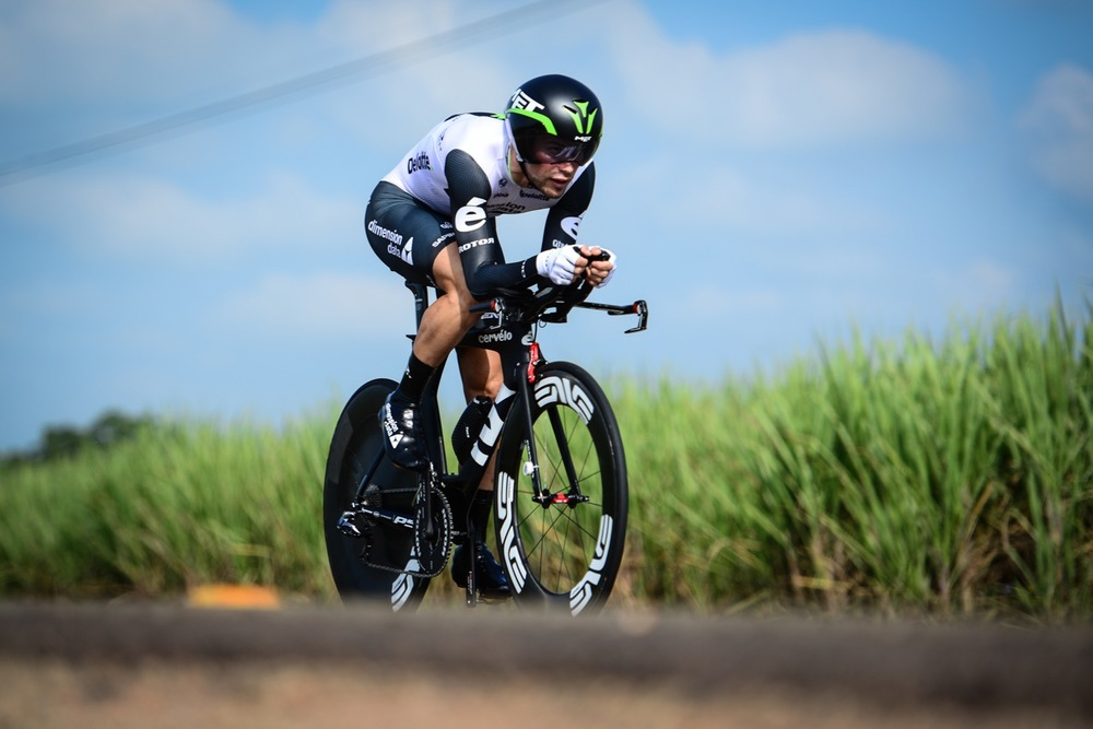 Reinardt Janse van Rensburg's (Team Dimension Data for Qhubeka) time of 01:02:06,31 earned him a 2nd place in the Elite Men's race on Day 2 of the 2016 SA National Road, Time Trial and Para-cycling Championships in Wartburg, KwaZulu-Natal, on Thursday 11 February. Photo credit: Darren Goddard
