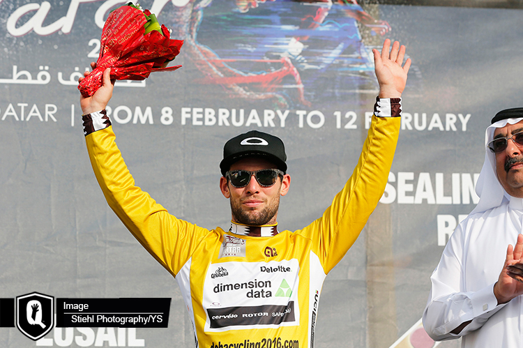 Mark Cavendish wins the Tour of Qatar giving Dimension Data for Qhubeka their first overall win of the season