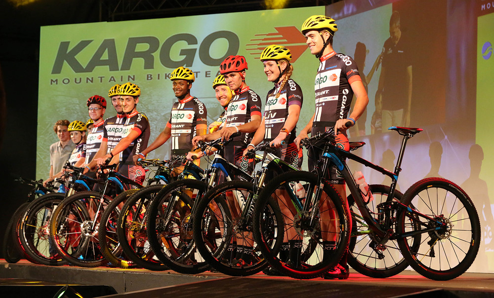 The 2016 Kargo PRO Cycling Team at the GO!Durban Cycle Academy launch that took place at the Gateway on 11 February. The Kargo PRO Cycling Team and coaches will mentor and coach the Academy cyclists.