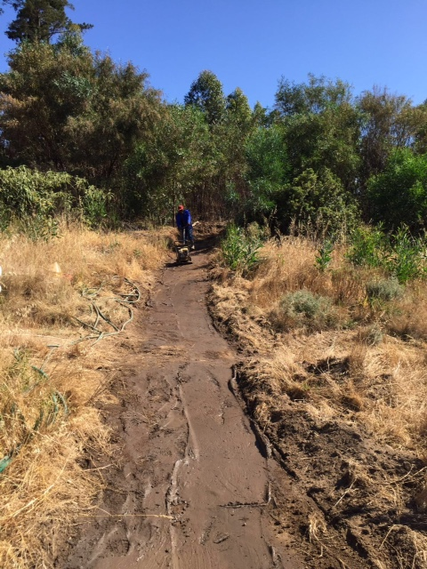 The team at Helderberg Trails bike park has been hard at work in preparation for the Stihl 2016 SA XCO Cup Series which takes place on Helderberg Farms in the Western Cape on Saturday 27 February. Photo: Supplied
