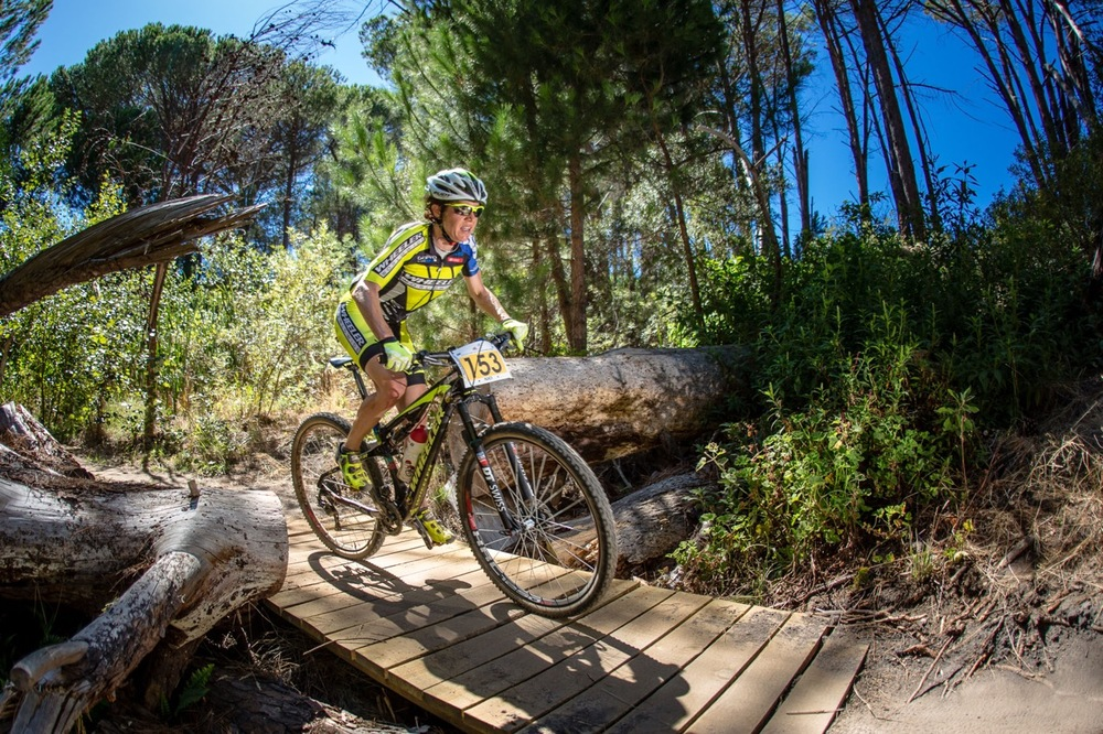 41-year-old Esther Süss (SUI) – a former Mountain Bike Marathon World Champion and multiple winner of the Absa Cape Epic – claimed the Elite Women's victory in 01:32:35 during round two of the Stihl 2016 SA XCO Cup Series at Helderberg Farms, Somerset West, on Saturday 27 February. Photo credit: Chris Hitchcock
