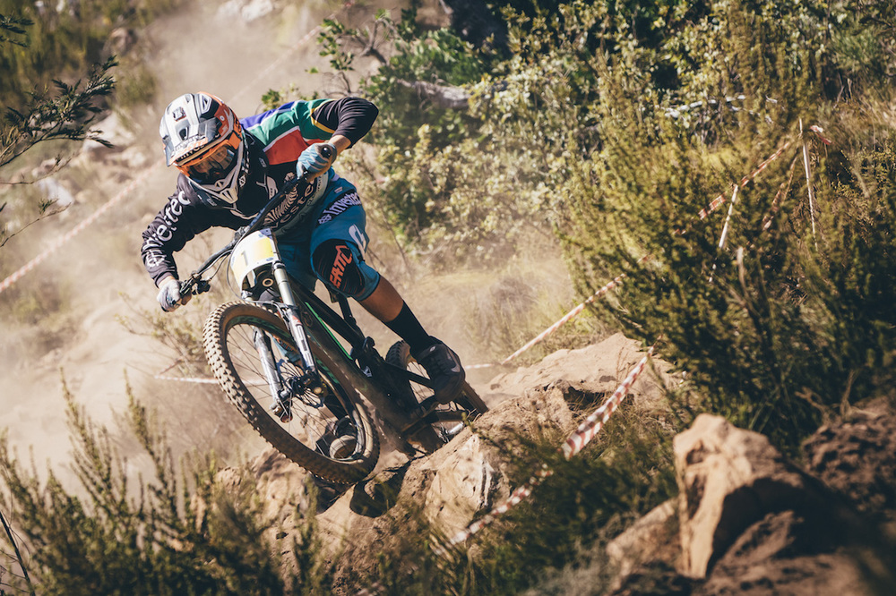 Solid-Reverse Factory Racing Team's Stefan Garlicki (sponsored by Investec) took the Elite Men's title and fastest time of the day at the Helderberg Trails in Somerset West for the Western Cape Downhill Provincial, which doubled as the first round of the South African National Cup Series, at the weekend. Photo: Ewald Sadie