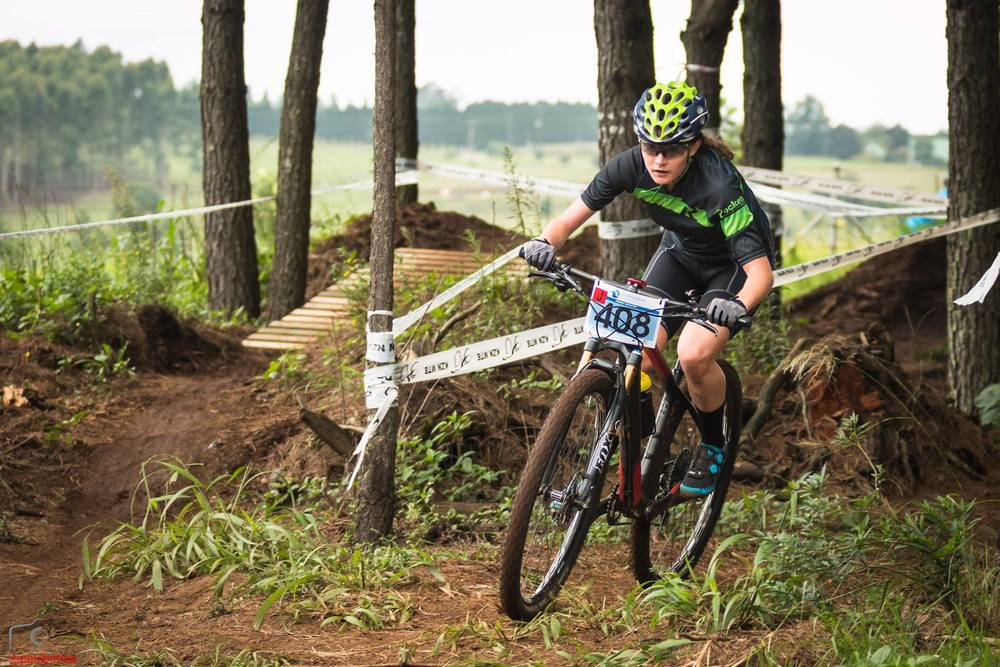 Absolute Cycling's Christie-Leigh Hearder, currently sits in second place in the Junior Women's log after two rounds of the Stihl 2016 SA XCO Cup Series. Round three takes place at Wolwespruit Bike Park, and will be hosted by City of Tshwane in Erasmuskloof, Pretoria on Saturday 26 March. Photo: Paul Botma