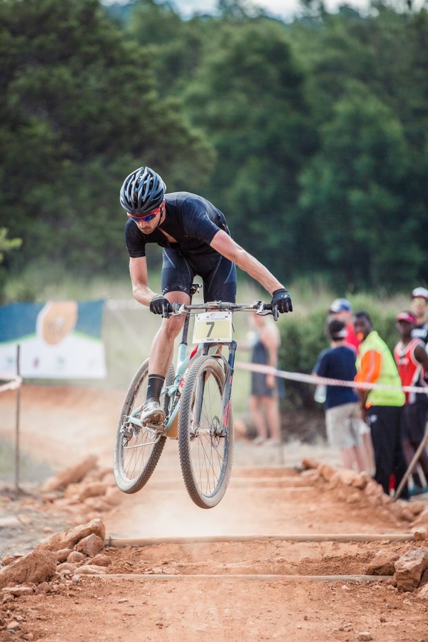 Trek Racing Team's Brendon Davids finished in second place - 12 seconds off the pace - in the Pro-Elite Men's race at round three of the Stihl 2016 SA XCO Cup Series hosted by the City of Thswane at Wolwespruit Bike Park in Erasmuskloof, Pretoria, on Saturday 26 March. Photo credit: Hendrik Steytler Photography
