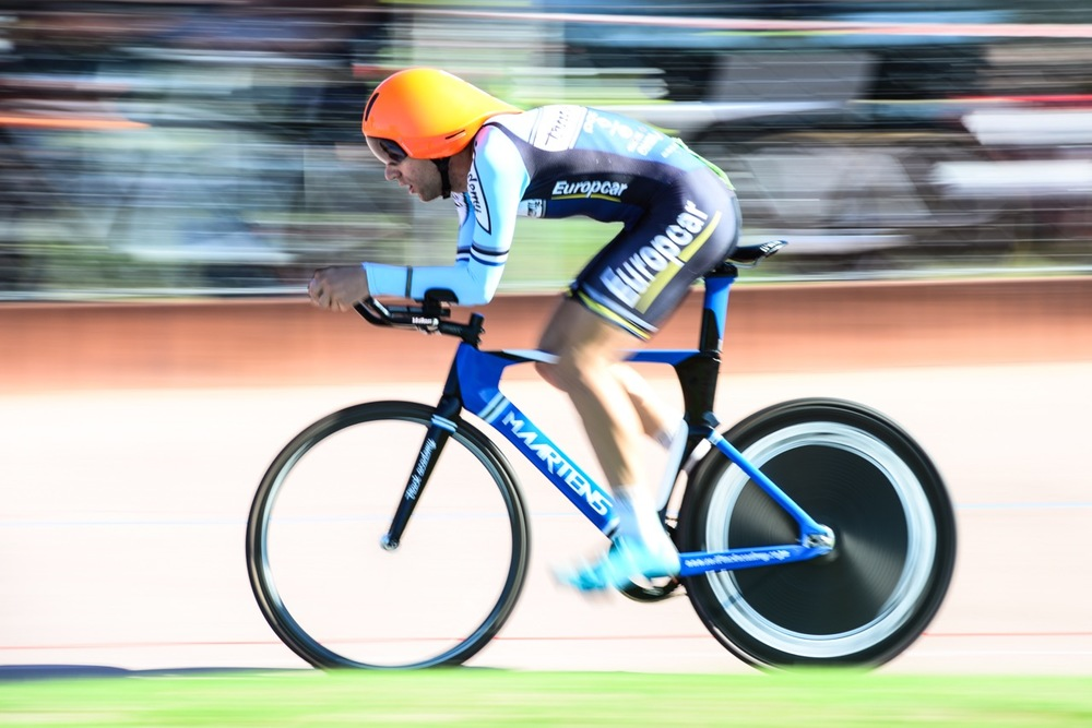 Elite Men's 4000-metre Individual Pursuit winner Steven van Heerden (VWE Track Academy) improved on his qualifying time to become the new National Champion on day one of the 2016 South African Track and Para-cycling Championships at the Westbourne Oval in Port Elizabeth on Monday 28 April. Photo credit: Darren Goddard
