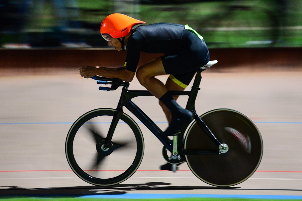 Jason Oosthuizen won the Junior Men's 3000-metre Individual Pursuit in 3:44.81 on day one of the 2016 South African Track and Para-cycling Championships at the Westbourne Oval in Port Elizabeth on Monday 28 April. Photo credit: Darren Goddard