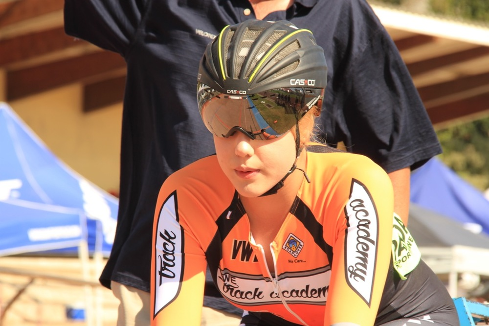 Danielle van Niekerk (VWE Track Academy) claimed the Junior Women's title at the 2016 South African Omnium Championships at the Westbourne Oval in Port Elizabeth from Saturday 2 to Sunday 3 April. Photo credit: Mylene Paynter
