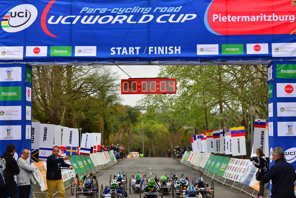Participants of the 2016 UCI Para-cycling Road World Cup taking place in Pietermaritzburg, South Africa, from 7-8 May, will gain considerable opportunities to earn high numbers of UCI points at the season opener in the all-important Paralympic year. Photo credit: Darren Goddard