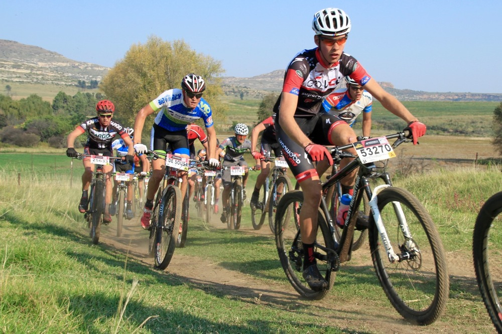 Eighteen-year-old Wessel Botha (Lynwood Centurion Cyclery) was crowned the Junior Men's South African MTB Marathon Champion over the 43.5-kilometre half-marathon route in a time of one hour 37 minutes and two seconds at the third round of the Ashburton Investments National MTB Series this year, which played host to the 2016 South African Mountain Bike Marathon Championships in Clarens, on Sunday 17 April. Photo: supplied