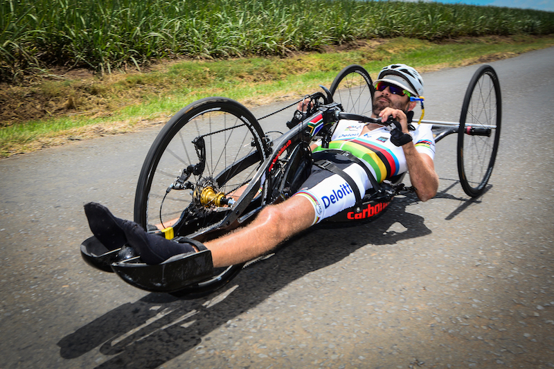 Double World Champion, Pieter du Preez, is looking forward to South Africa's hosting of the first leg of the 2016 UCI Para-cycling Road World Cup in Pietermaritzburg from 7-8 May. Photo: Darren Goddar