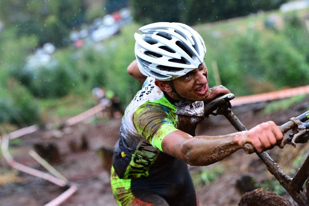 Reinhard Zellhuber (Merida/32Gi) was the highest placed South African finishing second in the Junior Men's XCO race at the 2016 Pietermaritzburg MTB Festival at Cascades MTB Park on Saturday 30 April. Photo: Darren Goddard