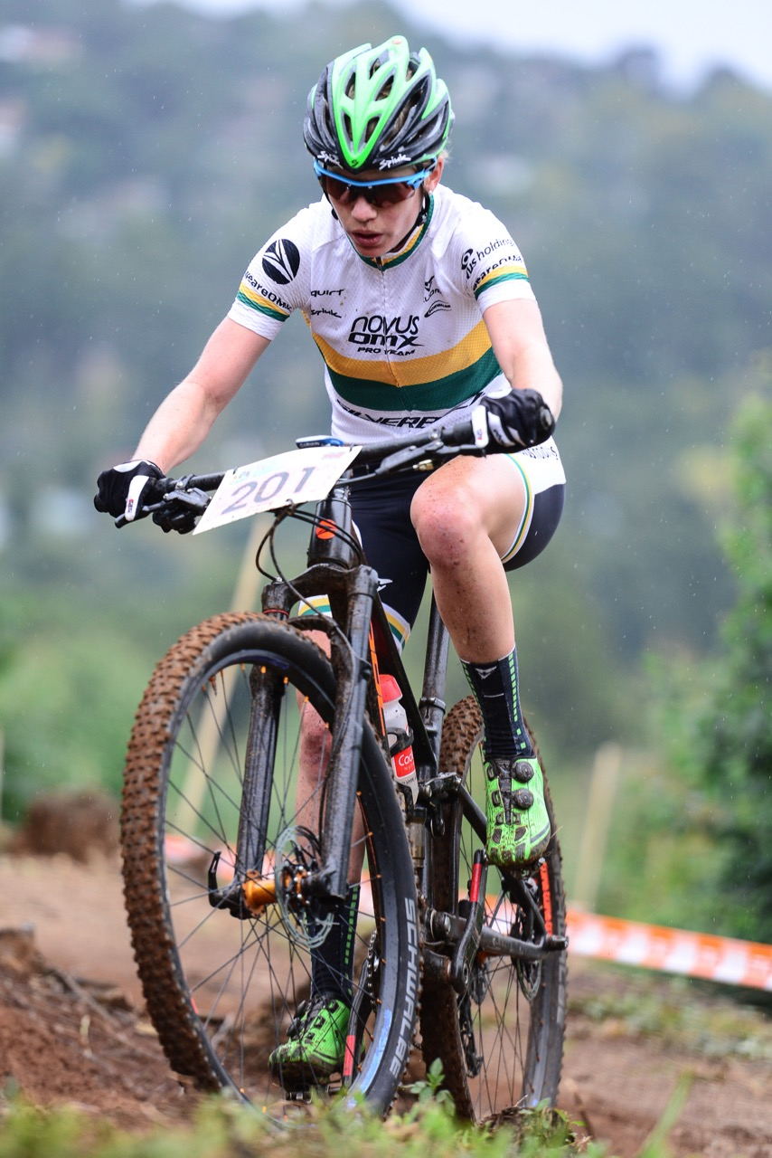 Cherie Redecker (Novus OMX Pro Team) leads the Pro-Elite Women's Log after the first three events in the STIHL 2016 SA XCO Cup Series and will look to reatin her lead at round four in the Eastern Cape at Settler's Park in Port Elizabeth on Saturday 14 May. Photo credit: Darren Goddard
