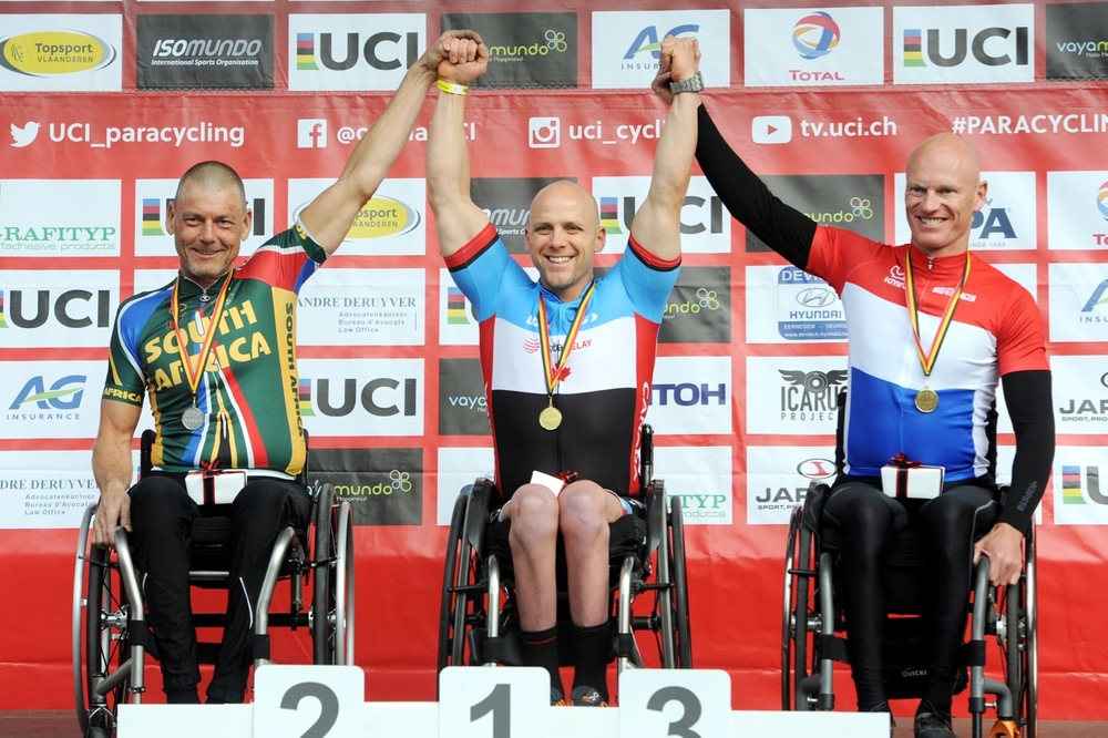 H3 hand cyclist McCreadie brought home a silver medal in the Time Trial and a bronze medal in the Road Race in round two of the UCI Para-cycling Road World Cup in Ostend at the weekend. Photo Credit: Jean-Baptiste Benavent