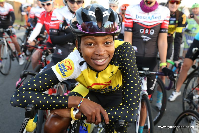 Zanele Tshoko of the Time Freight eTeam has been invited by the UCI to take part in the African Women's Cycling Training Camp at the UCI World Cycling Centre in Aigle, Switzerland, from 9 June – 1 August 2016. Photo Credit: Rika Joubert