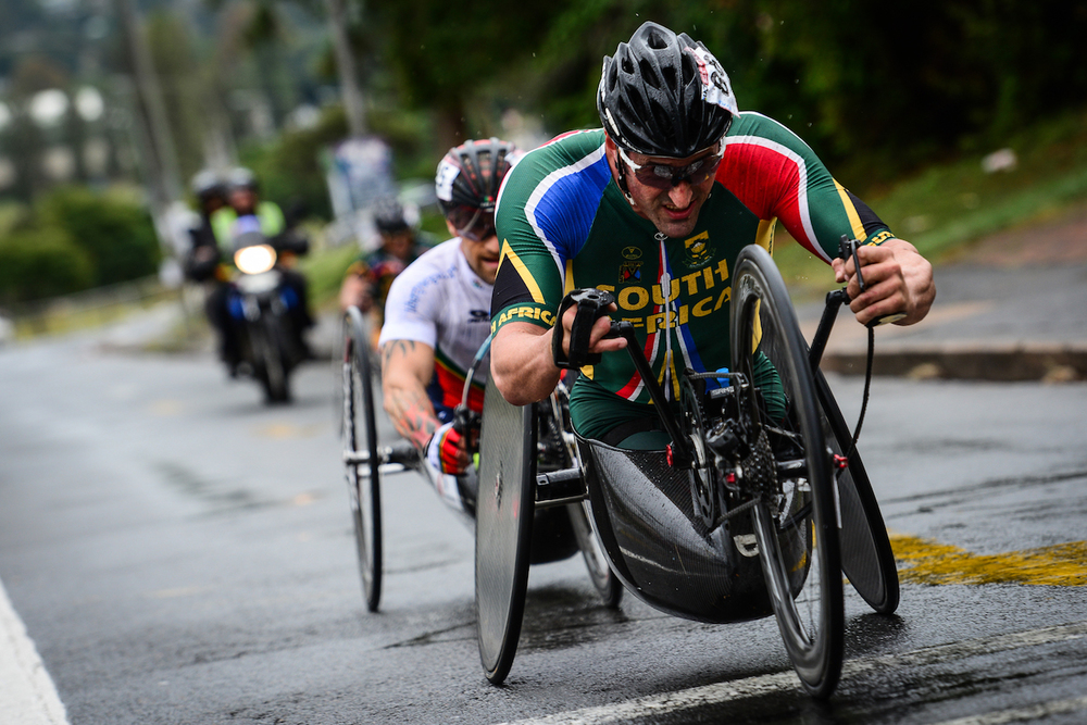 Paralympic gold medallist and multiple World Champion hand cyclist, Ernst van Dyk, has been announced as one of a record 22 athletes that have been accepted as candidates to fill the summer representative positions on the IPC (International Paralympic Committee) Athletes' Council. Photo credit: Darren Goddard