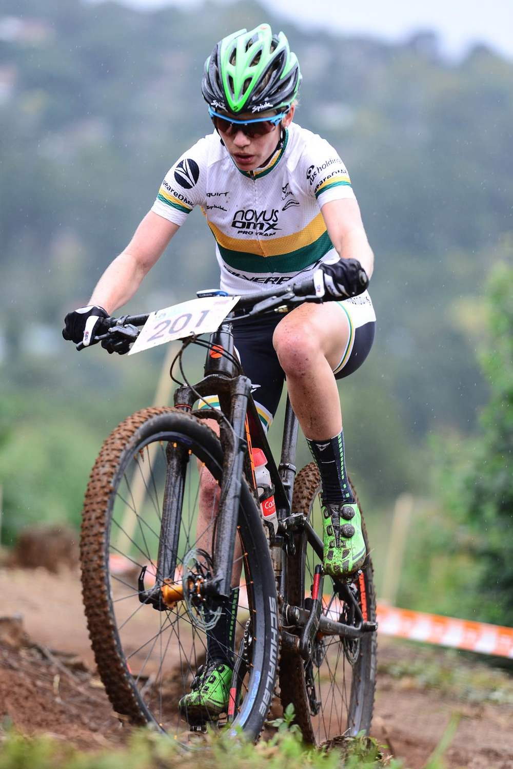 Although Novus OMX Pro MTB Team's Cherie Redecker is the current Elite Women's Log Leader, the overall title will only be decided at the fifth and final round of the Stihl 2016 SA XCO Cup Series, which takes place at Happy Valley Conservancy in Bloemfontein on Saturday 18 June. Photo credit: Darren Goddard