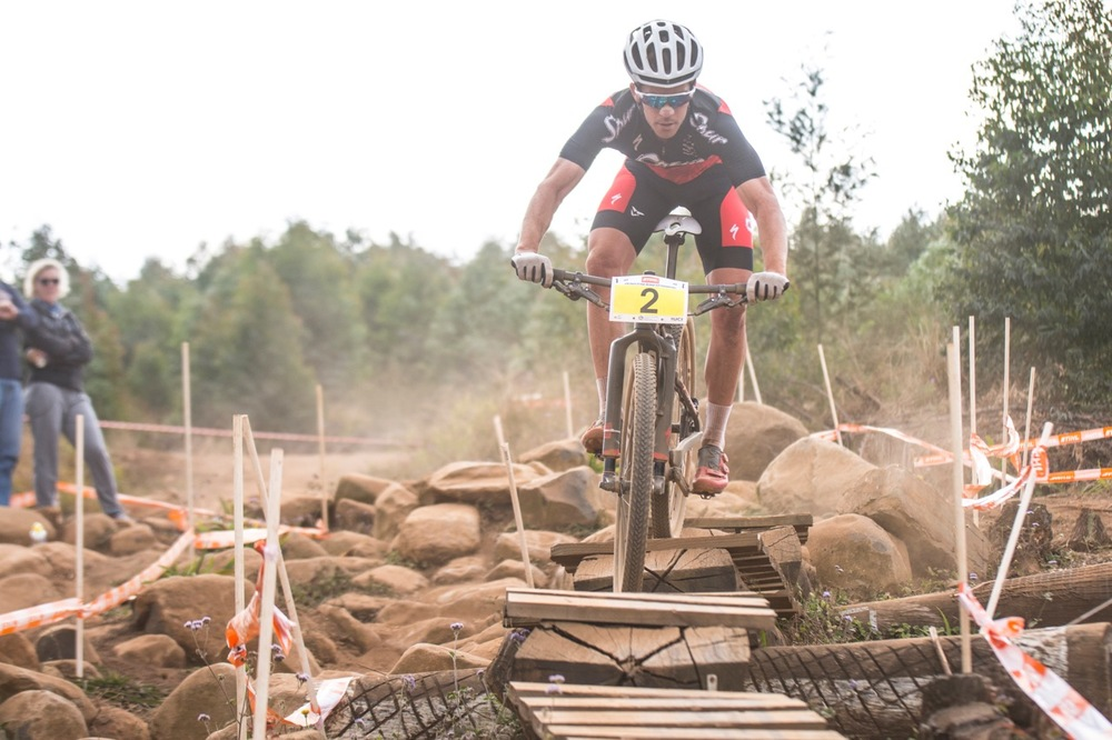 Team Spur's James Reid fought back a 45-second deficit to claw his way back and take the Elite Men's victory at the STIHL 2016 South African National Mountain bike Championships at Cascades MTB Park in Pietermaritzburg on Saturday 16 July 📸 Andrew Mc Fadden/BOOGS Photography