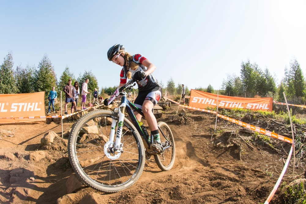 Tiffany Keep (Team PAW) claimed the Youth Women's title in the three-lap race in a time of 53 minutes at the STIHL 2016 South African National Mountain bike Championships at Cascades MTB Park in Pietermaritzburg on Saturday 16 July 📸 Andrew Mc Fadden/BOOGS Photography