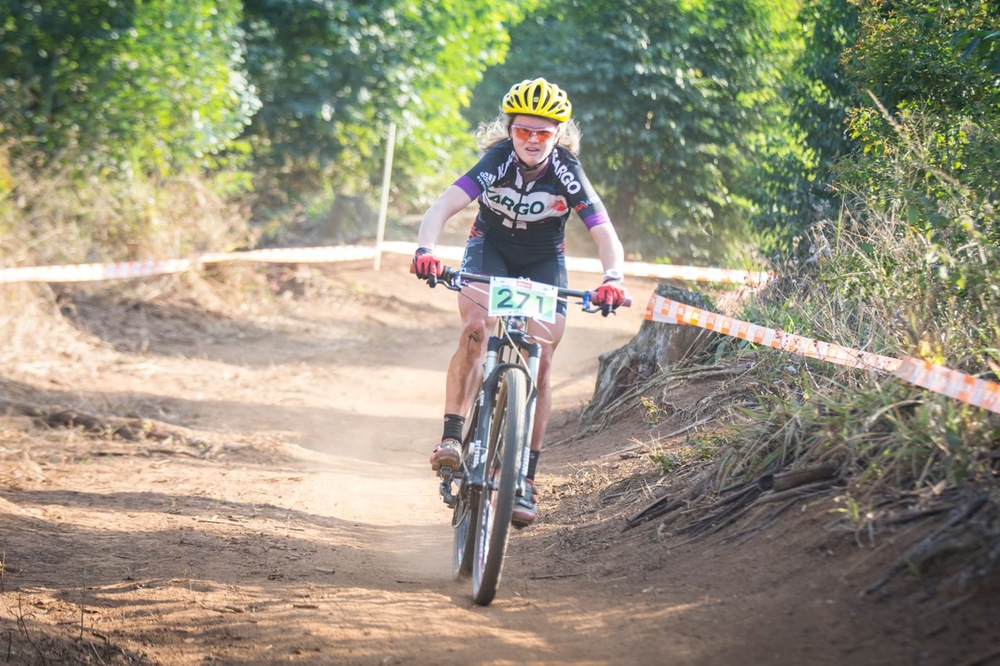 Kristen Louw (Kargo Pro MTB Team) put in a solid performance in the Junior Women's race over four laps, finishing in 01:16:06 at the STIHL 2016 South African National Mountain bike Championships at Cascades MTB Park in Pietermaritzburg on Saturday 16 July 📸 Andrew Mc Fadden/BOOGS Photography