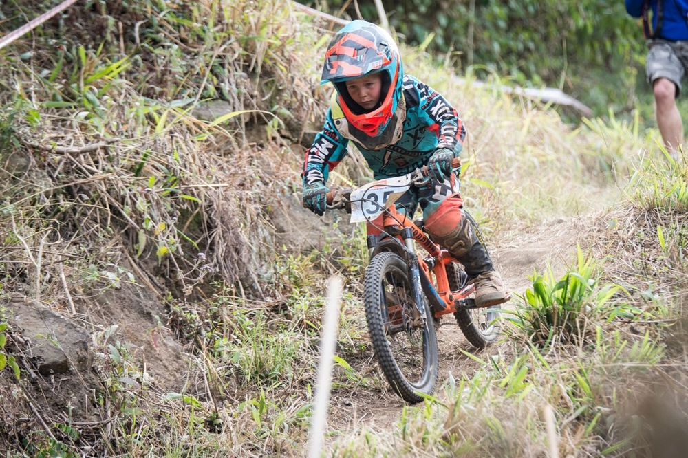 Young Benjamin Wolfson finished second in the Nipper Boys race at the STIHL 2016 South African National Mountain bike Downhill Championships at Cascades MTB Park in Pietermaritzburg on Sunday 17 July 📸 Andrew Mc Fadden/BOOGS Photography