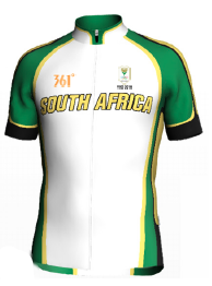 South Africa's cyclists will be racing in a brand new Olympic edition cycling kit. The design is the creative work of one of our office ladies, Tarryn Duncan
