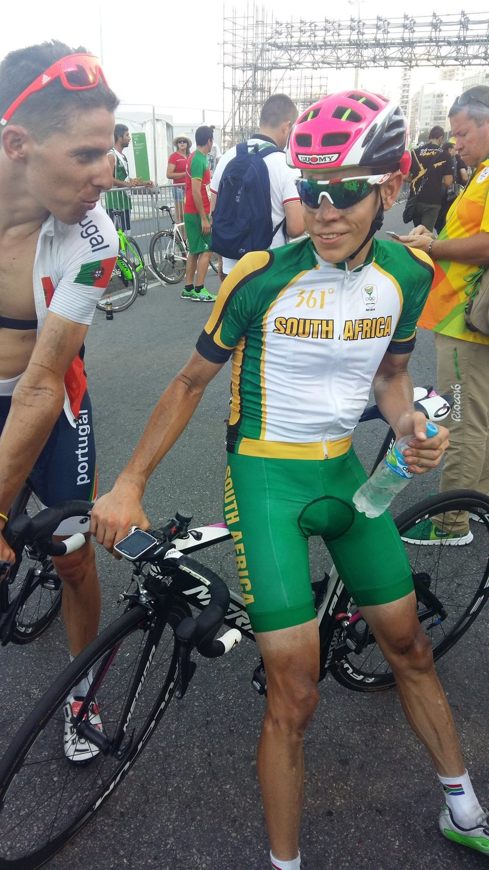 Louis Meintjes finished in 7th place in the Road Race at the 2016 Olympic Games in Rio de Janeiro, Brazil, on Saturday 6 August. Photo: Douglas Ryder (Twitter Post)