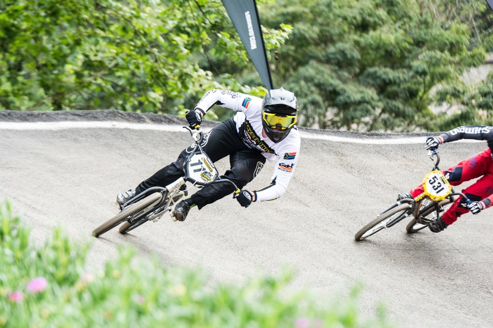 Dylan Eggar won the Junior Men's race at the 2016 African Continental BMX Championships on Sunday 2 October. Photo: Andrew McFadden/BOOGS Photography