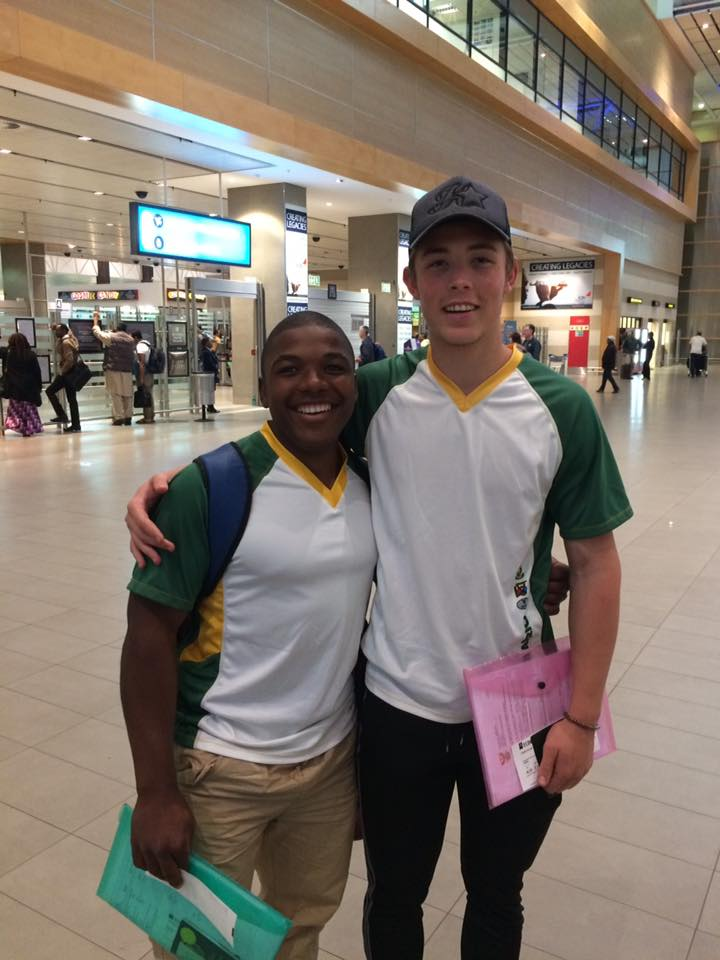 Manqoba Madida (left) and Dylan Eggar (right) are taking part in a BMX training camp this month at the UCI World Cycling Centre in Switzerland. Photo:    Manqoba Madida Facebook Page