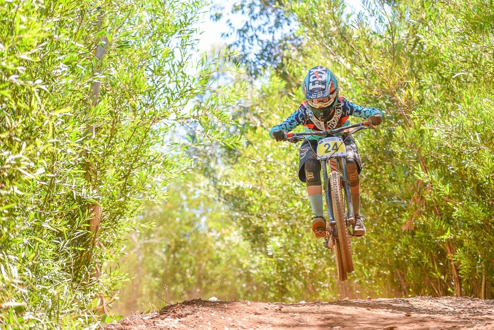 "Sabine ""Beani"" Thies claimed second place in the Women's Overall category at the first round of the 2017 SA Downhill National Cup Series in Helderberg on Sunday 29 January. Photo: Theo Bruwer"