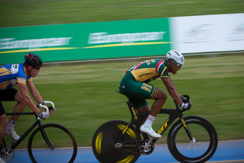 South African Track and Road cycling hero, Nolan Hoffman has once again begun to zone in ahead of the event the 2017 African Continental Track Championships which takes place at the Cyril Geoghegan Velodrome in Durban from 20-24 March. Photo: Craig Dutton