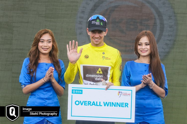 Team Dimension Data for Qhubeka's Ryan Gibbons claimed the overall Tour de Langkawi victory in Malaysia last week. Photo: Stiehl Photography/Team Dimension Data For Qhubeka (   Press Release   )