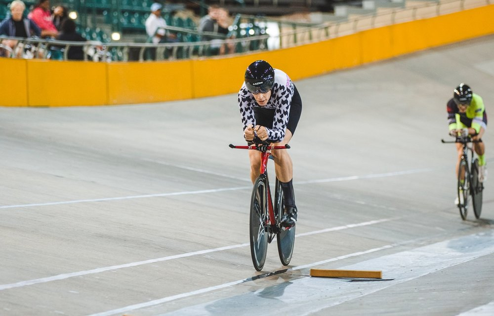 Gert Fouche took the Elite Men's Individual Pursuit victory at the 2017 SA National Track and Championships at the Bellville Velodrome in the Western Cape on Monday 3 April. Photo: DoubleST