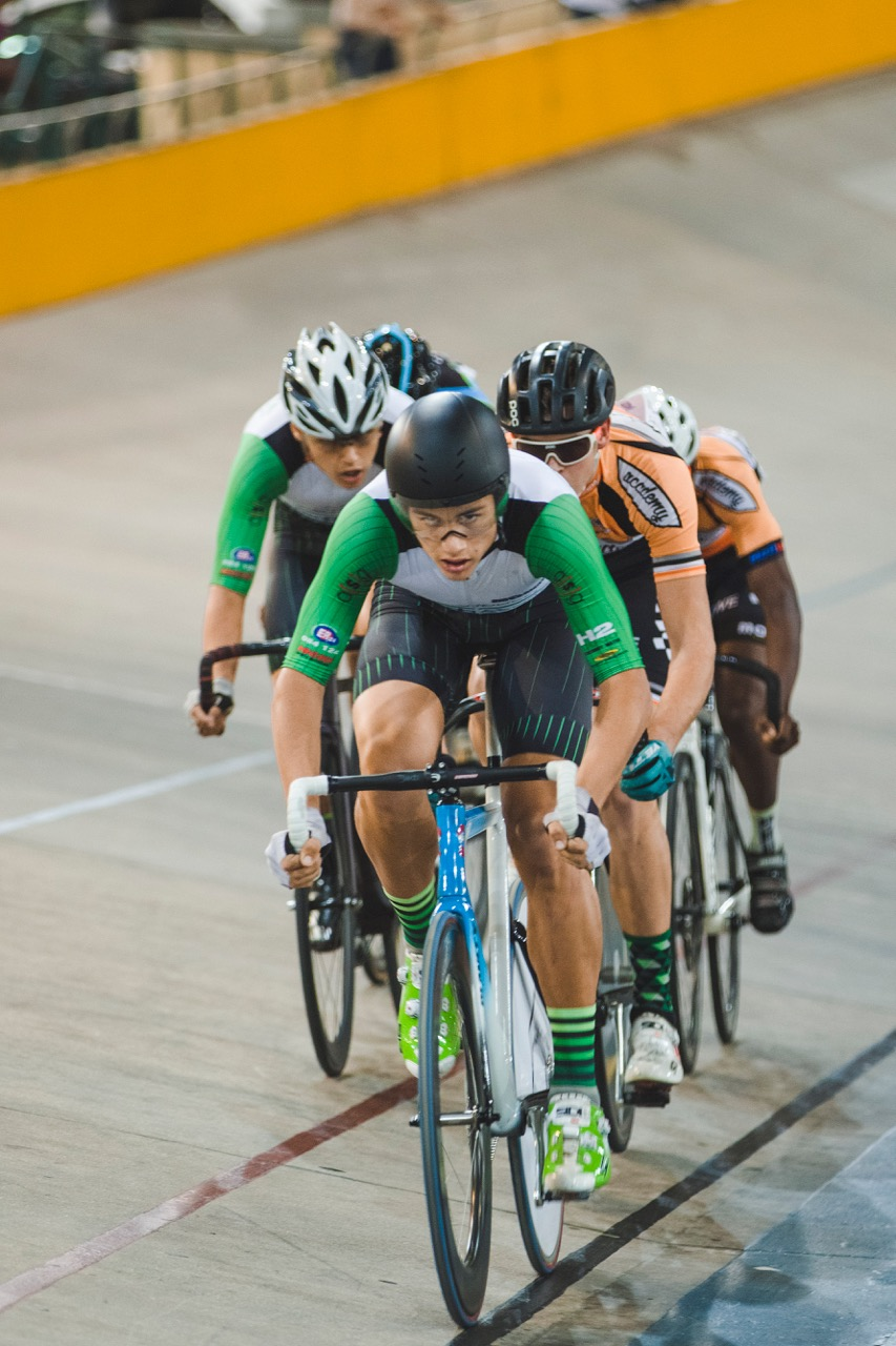 Jason Oosthuisen bagged another two medals in the Junior Men's Keirin and Elimination races at the 2017 SA National Track Championships in the Western Cape on Friday 7 April. Photo: DoubleST