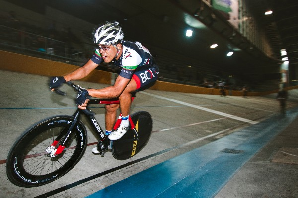 In what he described as one of the fastest Elimination races in a few years, Nolan Hoffman took the gold medal at the 2017 SA National Track Championships in the Western Cape on Friday 7 April. Photo: DoubleST