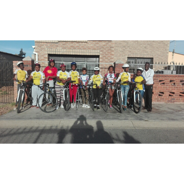 Cycling South Africa's Vice President and former Transformation and Development Commission Director Yster Xatasi chats about the newly formed Nelson Mandela Bay Ladies Cycling Academy in Port Elizabeth. Photo: Supplied