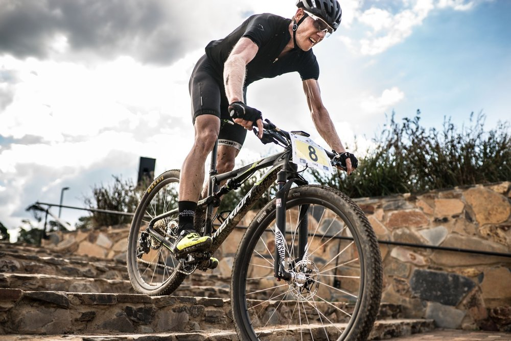 Jan Withaar made the switch from his career in civil engineering to racing mountain bikes, and he will be back in action at the third and penultimate round of the SA National MTB Cup Series XCO, which takes place at Happy Valley Conservancy in Bloemfontein, Free State, on Saturday 6 May. 📷  Etienne Schoeman