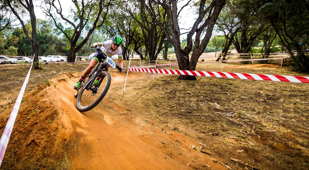 Mariske Strauss was the fastest Elite Women at the third round of the SA National MTB Series XCO at the Happy Valley Conservancy in Bloemfontein on Saturday 6 May. Photo: Reblex Photography.