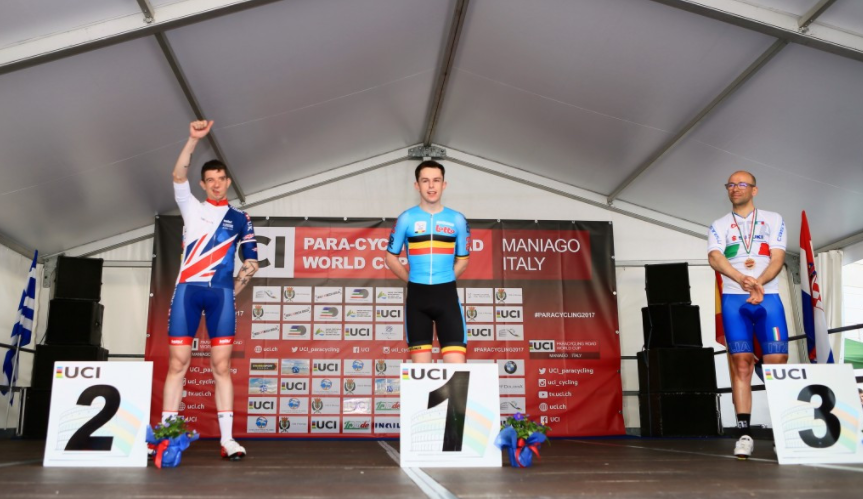 Celen wins gold as road races begin at UCI Para-cycling Road World Cup, via insidethegames.biz