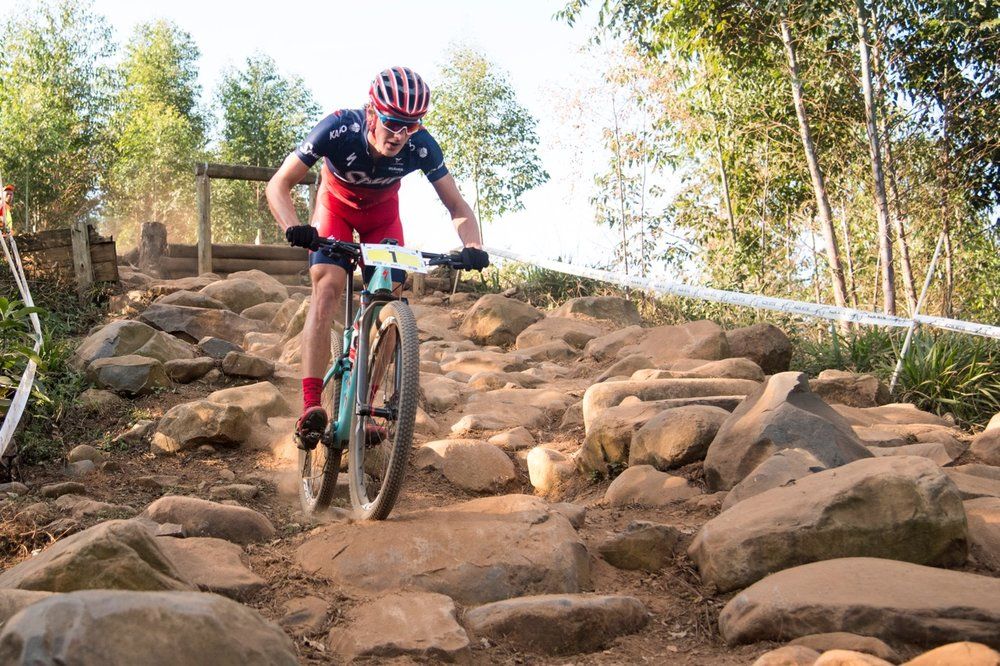 Alan Hatherly took the top honours in the Elite Men's race at the final round of the SA National MTB Cup Series XCO at Cascades MTB Park on Saturday 17 June. Photo: BOOGS Photography