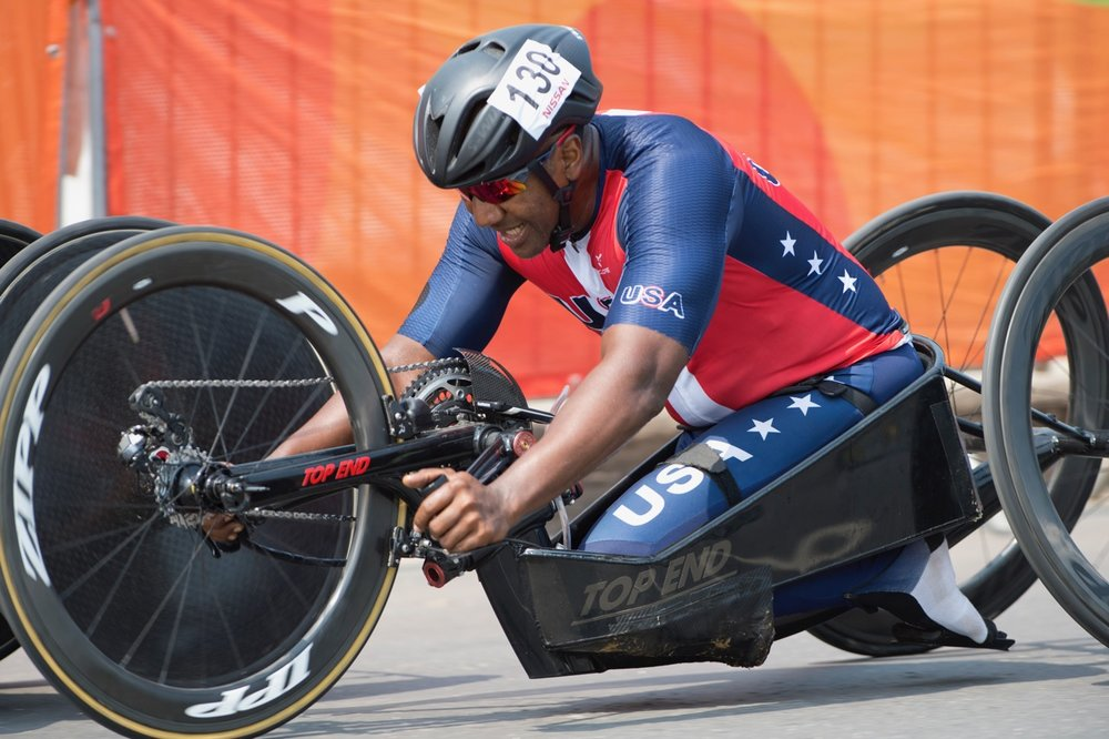 Army veteran Freddie de los Santos will be headed to the 2017 UCI Para-cycling Road World Championships in Pietermaritzburg from 31 August - 3 September. Photo: Casey Gibson