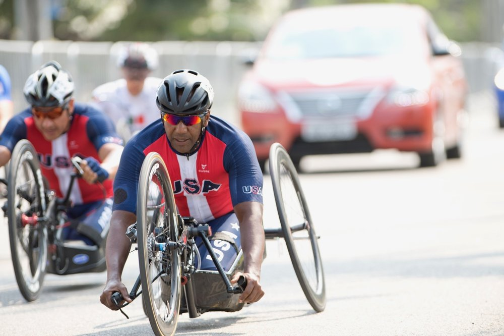Freddie de los Santos is part of the 22-member-strong Team USA who will be taking part in the 2017 UCI Para-cycling Road World Championships in Pietermaritzburg from 31 August - 3 September. Photo: Casey Gibson