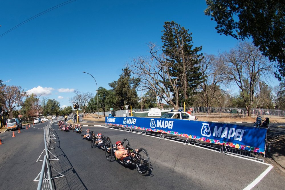 The highly competitive hand cycling races took to the streets of Pietermaritzburg during the Road Race on Day 3 of the 2017 UCI Para-cycling Road World Championships held at Alexandra Park Pietermaritzburg, South Africa, on Saturday 2 September 2017. Photo credit: Andrew Mc Fadden
