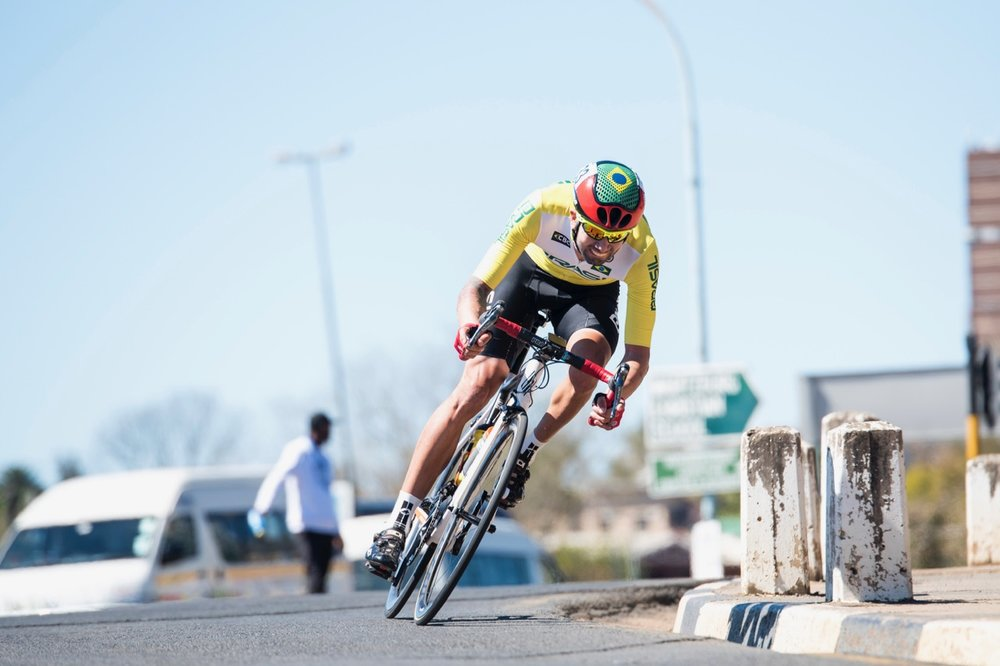 Brazilian Lauro Cesar was elated with his first career gold medal at the UCI Para-cycling Road World Championships in the Men's C5 Road Race, where he soloed to victory in a time of 2:04:04 along the 85km course on Day 4 of the 2017 UCI Para-cycling Road World Championships held at Alexandra Park Pietermaritzburg, South Africa, on Sunday 3 September 2017. Photo credit: Andrew Mc Fadden