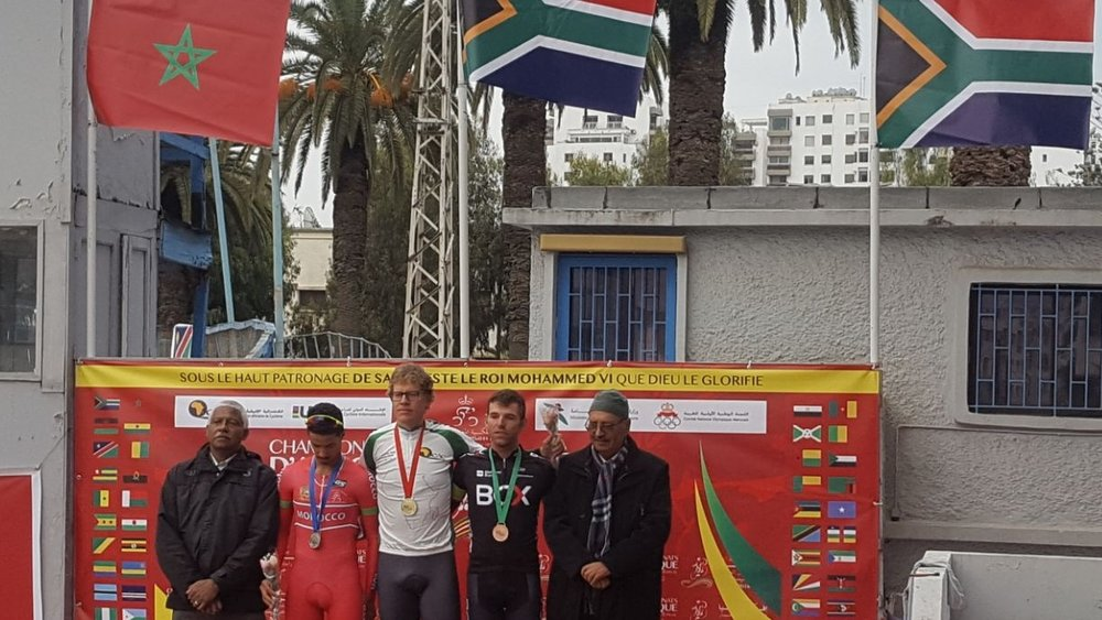 Gert Fouchè won gold in the Elite Men's Individual Pursuit, while Steven van Heerden claimed a bronze medal.